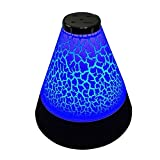 AENMIL Colorful Led Wireless Bluetooth Speaker, Fashion Stereo Subwoofer Speaker with Rechargeable Battery Builtin for Home Bedrooms Nursery Baby Room Kids Room Party and Picnic(Style 2 Black)