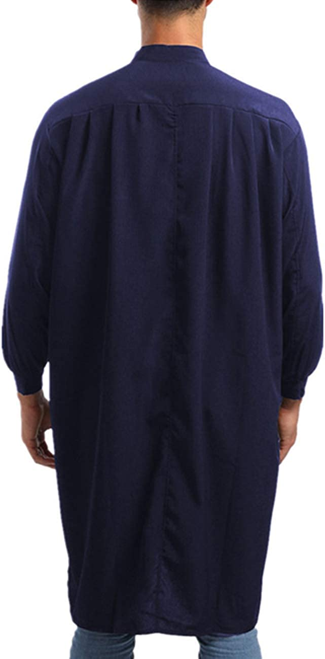 T/ürkische Dubai Thawb Ethnische Kleidung Zhhlinyuan Arabisches Kleid Langes Spitzenhemd Thobe Muslim Saudi Kaftan Robe Gebetsmantel