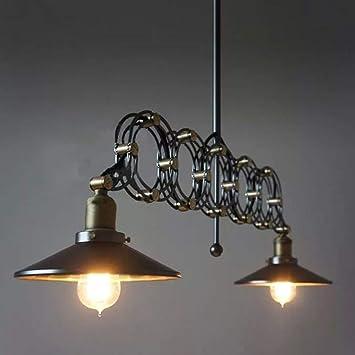 Amazon.com: Lámpara colgante de lámpara de araña retro con ...