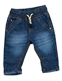 Babies / Boys Elasticated Waist Denim Jeans / Trousers ~ 3 Months to 2 Years