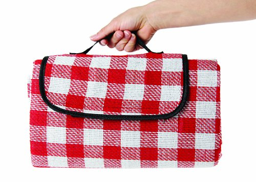 "Camco 42803 Picnic Blanket (51"" x 59"", Red/White)"
