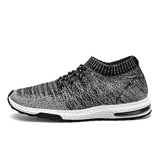 Oscuro Flyknit TUCSSON Deportivos Zapatos gris Zapatillas Correr Ocasional Gimnasio Hombre 01 Sports Caminar de Tennis Deportivos ZZ1zAwqT