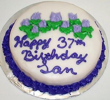 Lemon decorated cake single layer 8 round purple trim and lavender lemon decorated cake single layer 8quot round purple trim and lavender flowers mightylinksfo