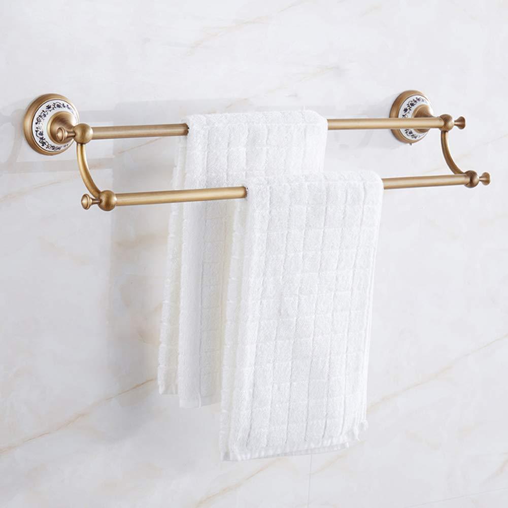 estilo clásico CLEAVE CLEAVE CLEAVE WAVES Barra de Toalla Doble, baño Antiguo de latón Pulido montado en la Parojo Barra de Toalla Accesorios de baño Toallero,Ceramic  lo último