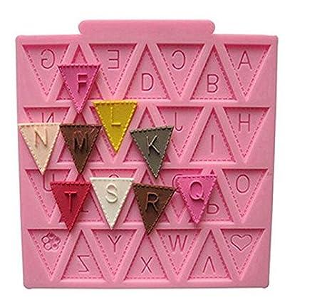 Weekendy Molde de Silicona para Tartas, diseño de Letras del Alfabeto: Amazon.es: Hogar
