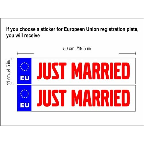 N3060 Connexion Just Married voitures, personnalisé Just Married Connexion, Connexion mariage, cadeau de mariage, mariage de voitures, Panneau, Autocollant, Decal, autocollant de voiture, Just Married Connexion well-wreapped