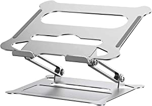 Laptop Stand, Adjustable Notebook Stand with Heat-Vent to Elevate Laptop, Multi-Angle Laptop Holder for Laptop up to 17 inches, Compatible for MacBook/Surface Laptop and so on