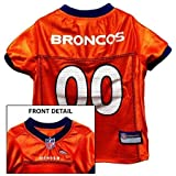 Pets First Official NFL Denver Broncos Jersey Small