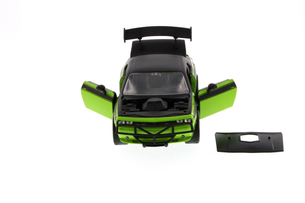 Amazon.com: Jada Fast & Furious Lettys 2011 Dodge Challenger SRT8 Hard Top, Green with Black 97232 - 1/24 Scale Diecast Model Toy Car, but NO Box: Toys & ...