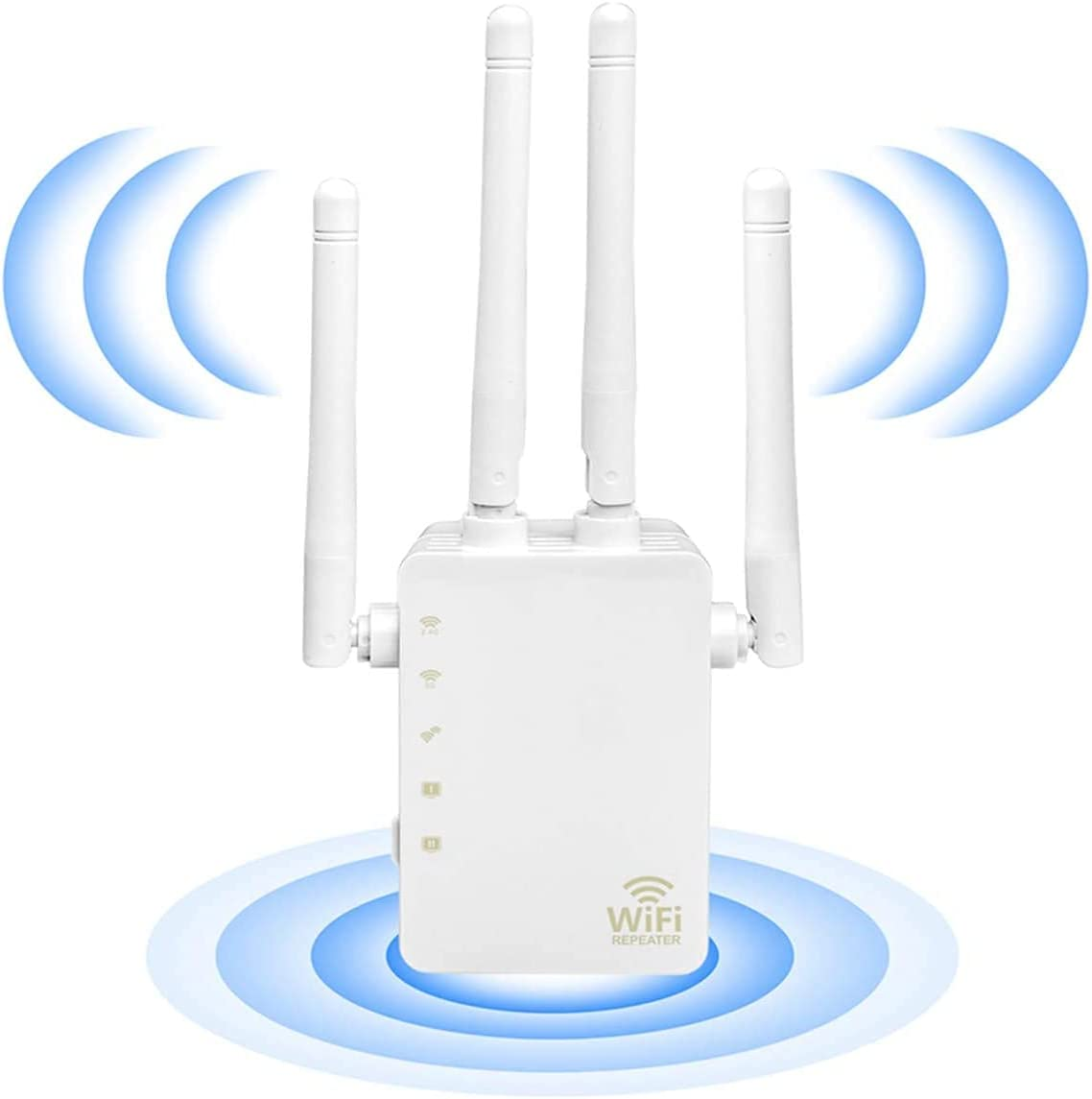 WiFi Extender - WiFi Repeater, WiFi Booster Covers Up to 2500 Sq.ft and 30 Devices, Up to 1200Mbps Dual Band WiFi Repeater with Ethernet Port, Wireless Signal Booster for Home
