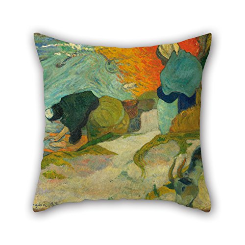 The Oil Painting Paul Gauguin - Laveuses à Arles (Washerwomen In Arles) Cushion Covers Of ,16 X 16 Inches / 40 By 40 Cm Decoration,gift For Dinning Room,bench,lounge,son,wife,teens Boys (each Side) (Arles Canvas)