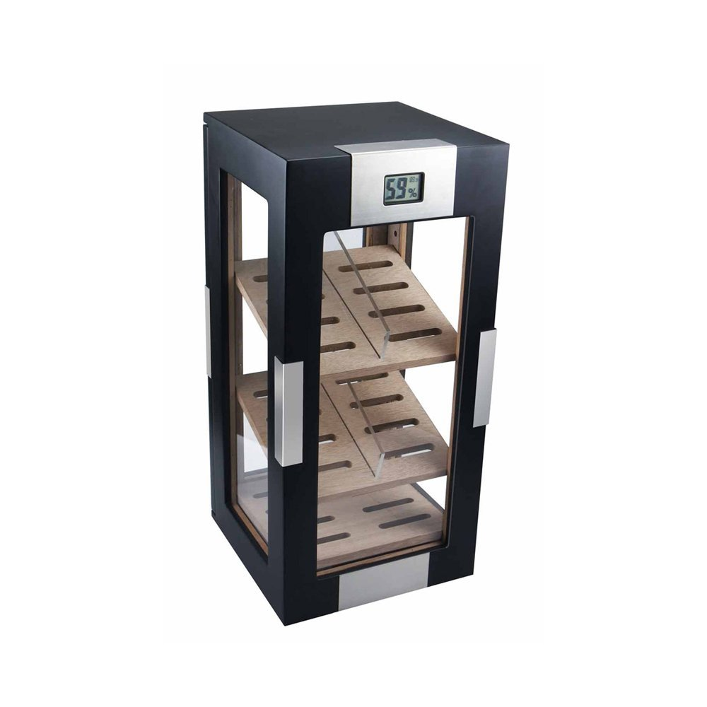 Visol DogWood Black Matte Vertical Cigar Humidor
