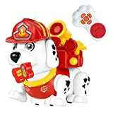 Electronic Pet Dog,Interactive Firehouse Puppy Children's Day Gift for Boys and Girls 2,3,4 Year Old Educational Remote Control Toys with Sounds,Dance and Walking