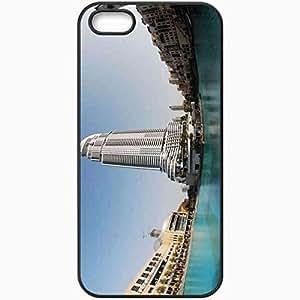Protective Case Back Cover For iPhone 5 5S Case Dubai UAE Building Black