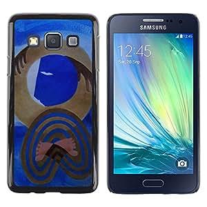 Caucho caso de Shell duro de la cubierta de accesorios de protección BY RAYDREAMMM - Samsung Galaxy A3 SM-A300 - Art Picasso Watercolor