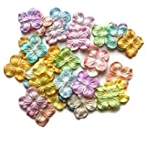 MUFFEE Flower Mulberry Paper Mixed Color Handmade for Making Cards, Scrapbook Embellishment, Craft Project, Flower Artificial, DIY Size 1 Inch x 1 Inch 100 pcs