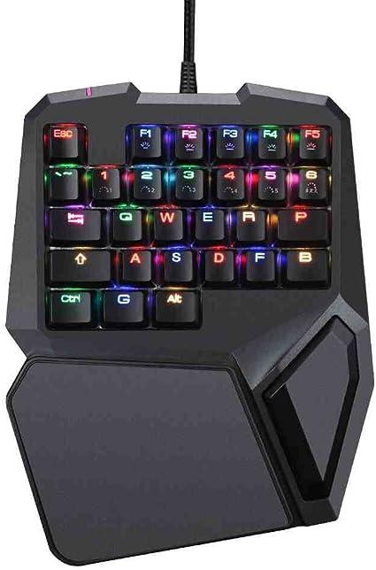 Mingteng Teclado KeyboardGaming con una Mano, Teclado ...
