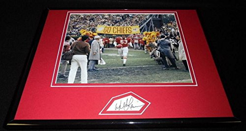 Autographed Willie Lanier Photo - Framed 11x14 Display Super Bowl Intro - JSA Certified - Autographed NFL Photos