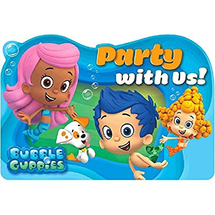 Amazon aqua awesome bubble guppies birthday party postcard aqua awesome bubble guppies birthday party postcard invitations paper 4quot x 5quot filmwisefo