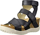 FLY London Women's Wege669fly Platform Sandal Black Mousse 38 EU/7.5-8 M US