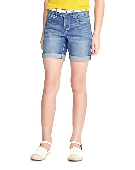 caec998224 Amazon.com: Old Navy Belted Rolled-Cuff Denim Shorts for Girls!: Clothing