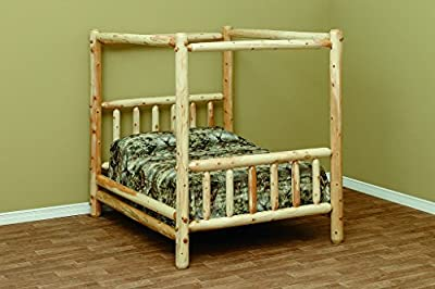 White Cedar Rustic Canopy Style King Bed *6 stain options*