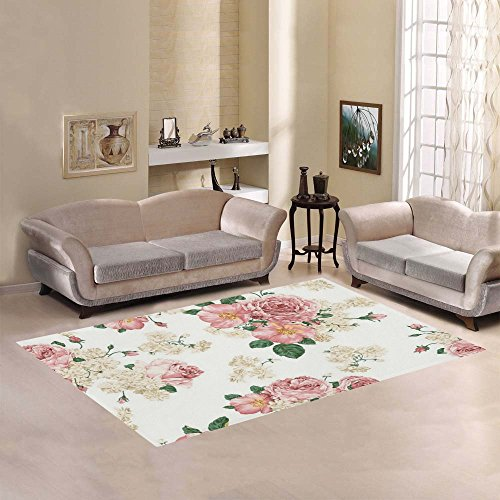 Love Nature Sweet Home Modern Collection Custom A Beautiful And Brave Rose Area Rug 7'x5' Indoor Soft Carpet - Rose Area Rug