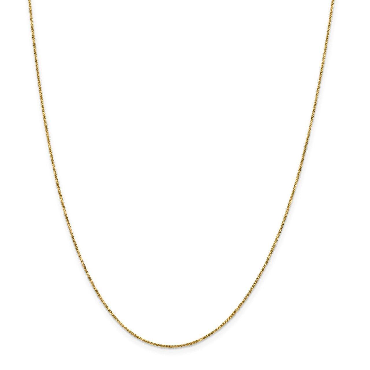 Lex /& Lu Leslies 18k Yellow Gold 1.00mm D//C Spiga Chain Necklace LAL18LP13-24