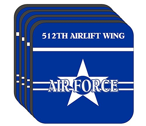 512th Airlift Wing - US Air Force Set of 4 Coasters