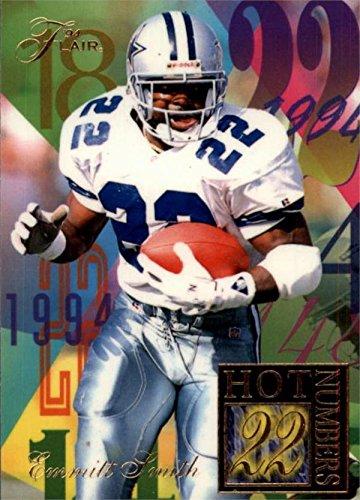 Emmitt Smith Football Card (Dallas Cowboys) 1994 Fleer Flair Hot Numbers #13