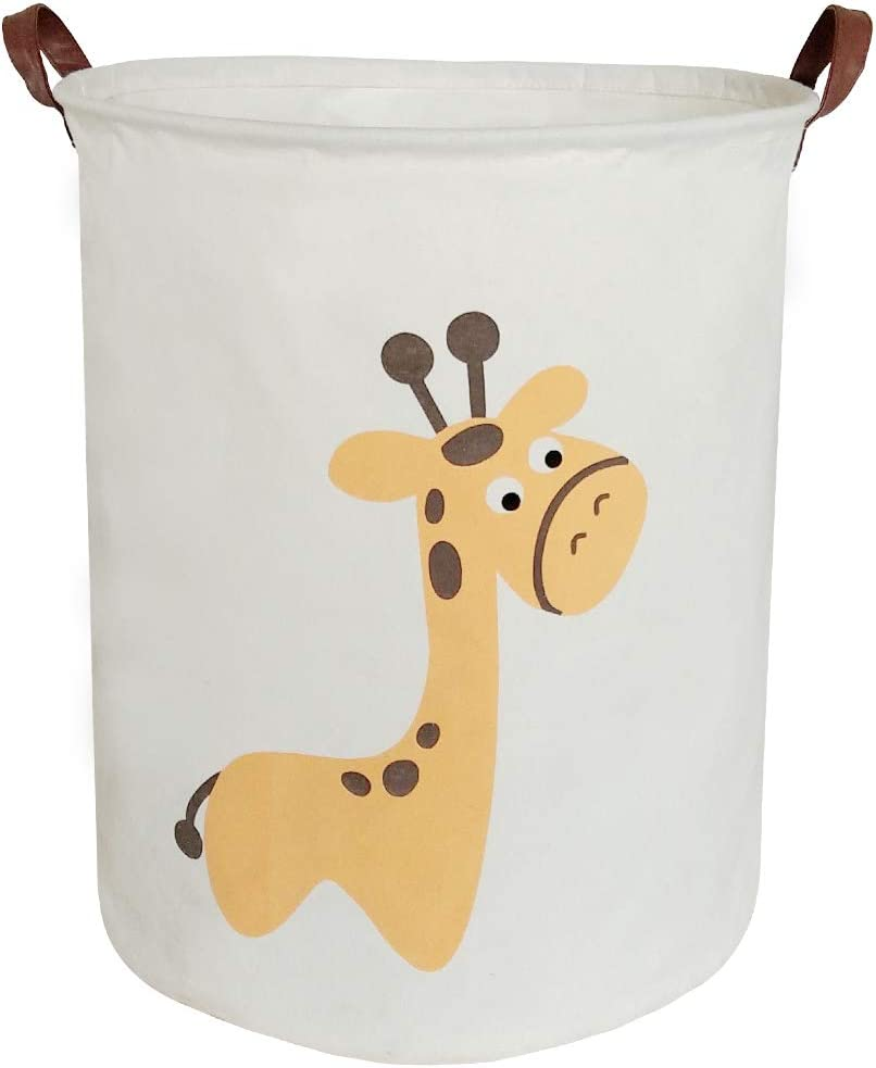 Collapsible Storage Bin/Handles Giraffe