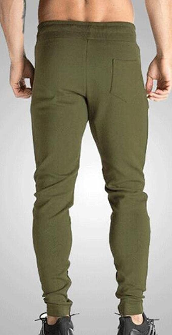 WSPLYSPJY Men Fitted Bodybuilding Workout Gym Running Jogger Pants