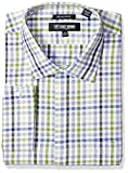 Stacy Adams Mens Big and Tall Grid Check Classic Fit Dress Shirt
