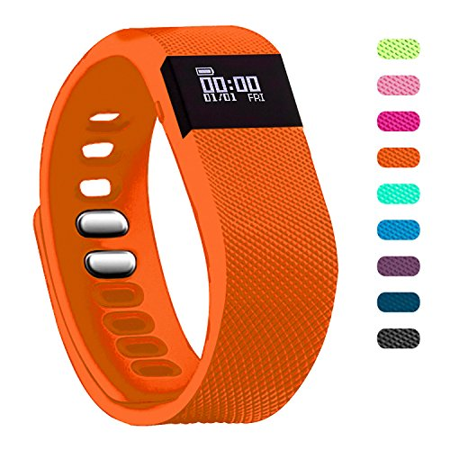 Fitness Tracker - Teslasz Bluetooth 4.0 Sleep Monitor Calorie Counter Pedometer Sport Activity Tracker for Android and IOS Smart Phone (Orange)
