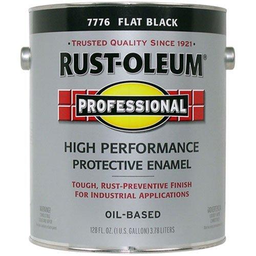 RUST-OLEUM 242251 Professional Gallon Flat Black Protective Enamel (Rust Oleum Gallon)