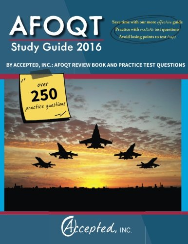 AFOQT Study Guide 2016 By Accepted, Inc.