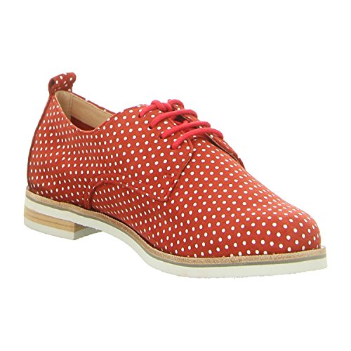 Caprice Woms Lace-up red dots