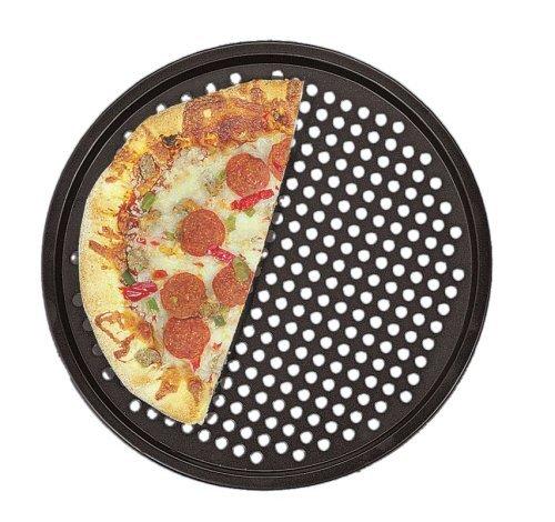 Pizza Tray Pan Baking Platters Shallow Dish Non-Stick Black Aluminum Alloy,12