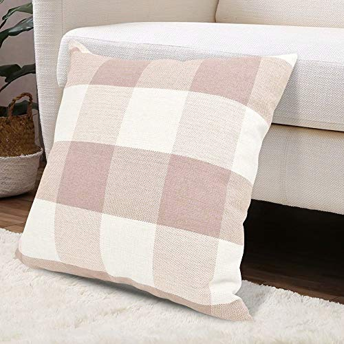 - USTYLES Pillow Covers 24 X 24 Decorative Throw Pillows Covers Cotton Line Square Cushion Cases for Sofa Chair Car Bench Bed Office Bar Indoor Outdoor Home Decorations Party Déc (Cream White)
