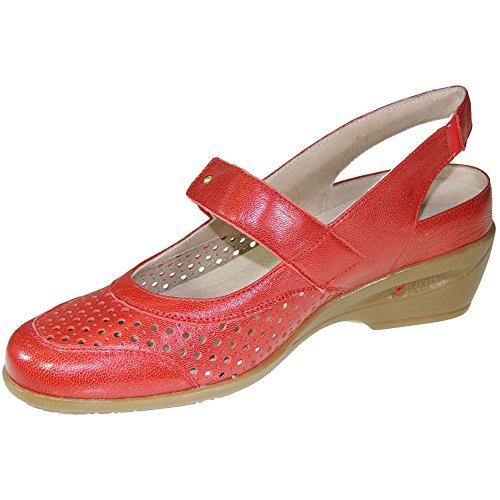 COPER - Sandaia Con Planta Extraible Y Cierre De Velcro - Modelo 105716 Rojo
