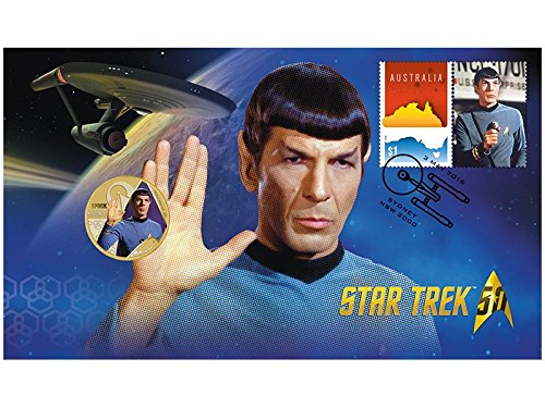 Star Trek 50th Anniversary Stamp and Coin - Spock - Live Long and Prosper - Official First Day Cover Collectible Postage Stamps Australia