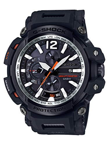 Casio Men's 'G SHOCK TOUGH SOLAR' Quartz Resin Aviator Watch, Color:Black (Model: GPW-2000-1ACR)