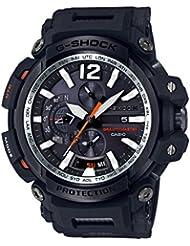 Casio Mens G SHOCK TOUGH SOLAR Quartz Resin Aviator Watch, Color:Black (Model: GPW-2000-1ACR)