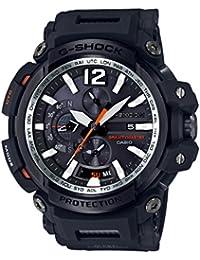 Men's 'G SHOCK TOUGH SOLAR' Quartz Resin Aviator Watch, Color:Black (Model: GPW-2000-1ACR)