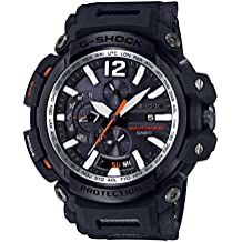 Casio Men's 'G SHOCK TOUGH SOLAR' Quartz Resin Aviator Watch, Color:Black (Model: GPW-2000-1ACR)