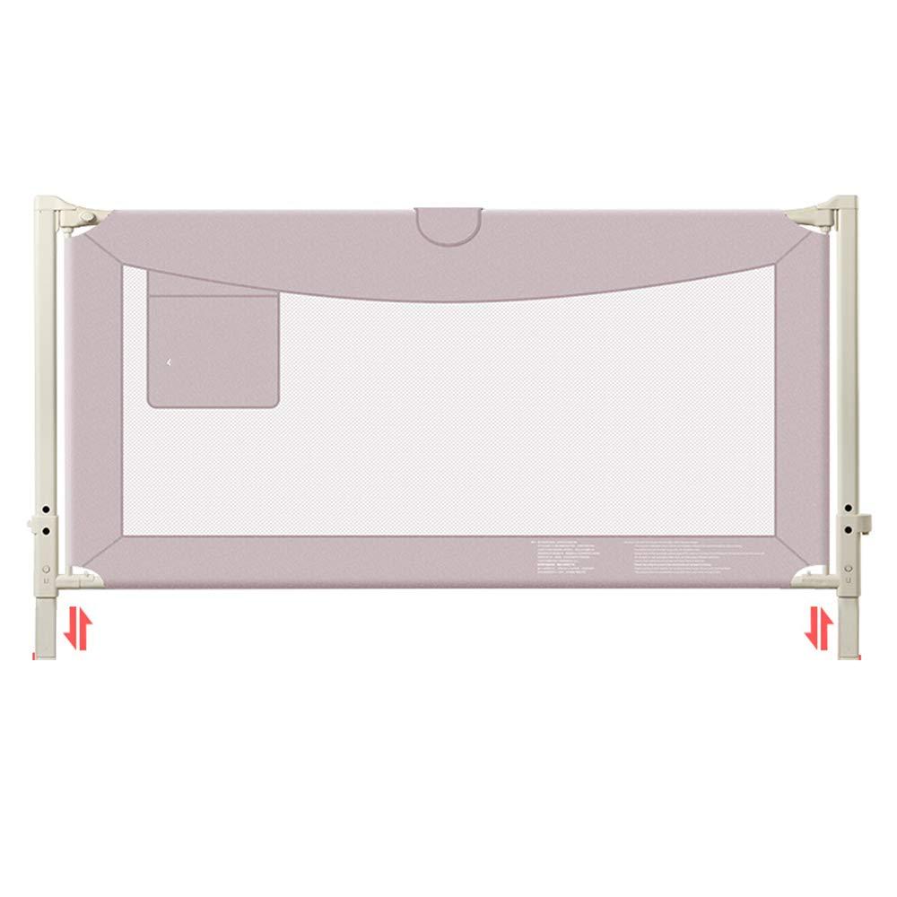 HUO 垂直リフトベッドガードレイルベビーシャッター抵抗フェンスベビーチャイルドベッドフェンス1.5-2 Mバッフル 省スペース (色 : Pink, サイズ さいず : 180cm) 180cm Pink B07GWRVXTB