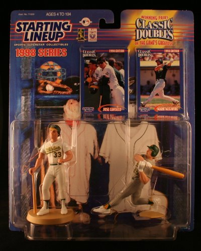 MARK MCGWIRE /OAKLAND A'S & JOSE CANSECO / OAKLAND A'S 1998 MLB Classic Doubles * Winning Pairs Series * Starting Lineup Action Figures & 2 Exclusive Collector Trading Cards ()