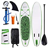 ANCHEER Inflatable Stand Up Paddle Board 10', iSUP Package w/Adjustable Paddle, Leash, Pump and Backpack