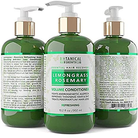 Amazon.com: Anti Hair Loss Conditioner Volumizing Lemongrass - Rosemary Botanical Organic Conditioner For Hair Thinning Prevention Alopecia DHT Blocking ...