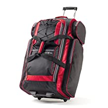 """Samsonite 77235-1073 Campus Gear 30"""" Wheeled Duffle, Black/ Red, Checked – Large"""